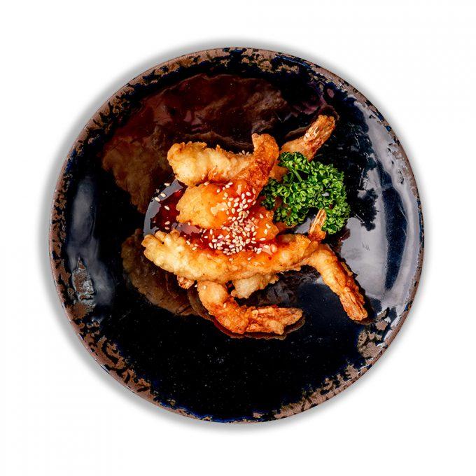 Krevetės tempuroje